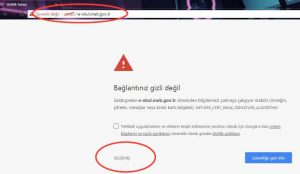 Bağlantınız Gizi Değil Hatası Çözümü Google Chrome