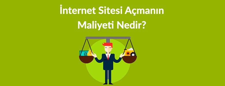 internet sitesi kurma maliyeti